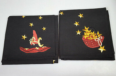 Halloween napkins fabric Set of 2 Longaberger Witch Hat Halloween decoration