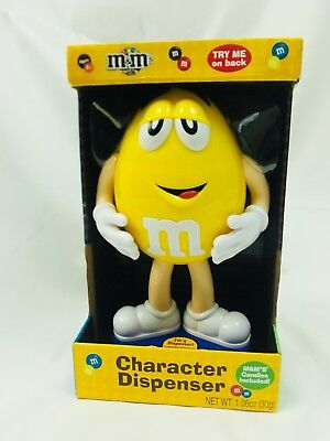 M&M 2012 Character Lazy Yellow  Candy Dispenser Collectible Candy Holder New