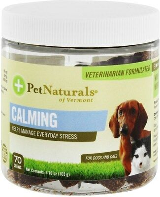 Calming Chews for Cats & Dogs, Pet Naturals of Vermont, 70 chews