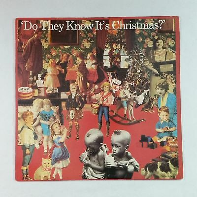 """BAND AID Do They Know It's Christmas 4405157 Sterling 12"""" Vinyl VG++"""