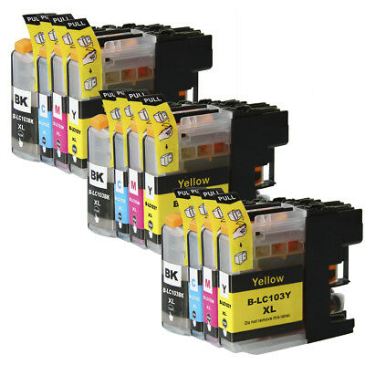 12 Non-Oem Ink Cartridge Brother Lc-103Xl Lc103 Lc-101 Xl Dcp-J152W Mfc-J4410Dw