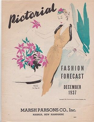 Pictorial Fashion Guide December 1937 Rare Pattern Catalog 1930s Fashions