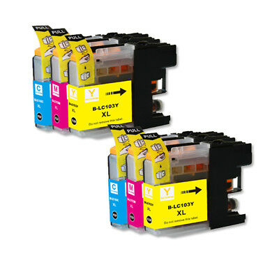 6 Non-Oem Ink Cartridge Brother Lc-103Xl Lc-101Xl Mfc-J4510Dw Mfc-J4610Dw 4710Dw