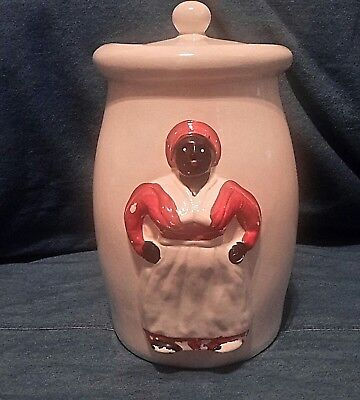Collectible Black Americana Cookie Jar and Black Lady wearing an Apron