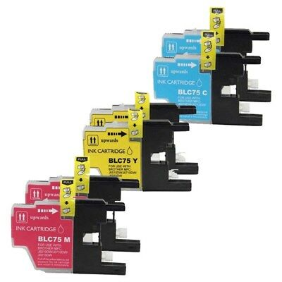 6 Non-Oem Ink Cartridge Brother Lc-75 Lc-71 Mfc-J280W	Mfc-J425W Mfc-J430W C M Y