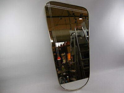 Good Mirror The 60er Rockabilly Pattern Rectangular Wood Wall Mirror Other Antique Furniture Antiques