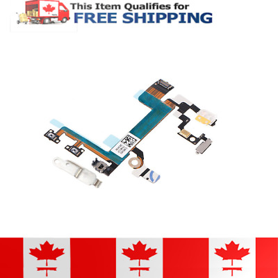 iPhone 5s Power On Off Volume Button Flex Cable With Metal Bracket