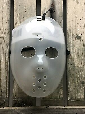 Jason Voorhees Mask Costume Friday 13th Hockey Scary Fun Glow In The Dark