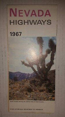 1967 Nevada  official state highway road map