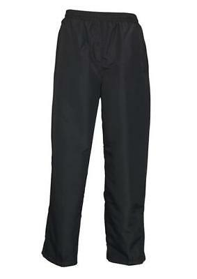 Lined Microfibre Track Pants with Pockets    Unisex Adults Clothing