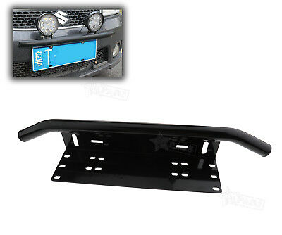 Car License Plate Frame Number Plate Bull Bar Bumper Mount Bracket LED Light UK
