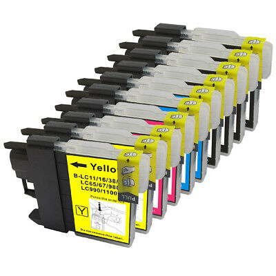 10 Non-Oem Ink Cartridge Brother Lc-61 Mfc-495Cw Mfc-795Cw Mfc-295Cn Mfc-250C