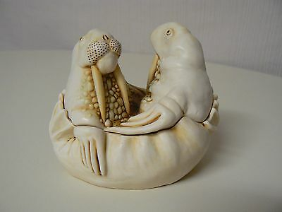 Harmony Kingdom TEA FOR TWO TJLWA Treasure Jest Retired Walrus Figurine Love