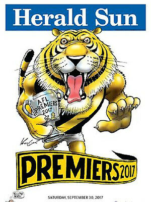 2017  Richmond Premiers Herald Knight Premiership Poster