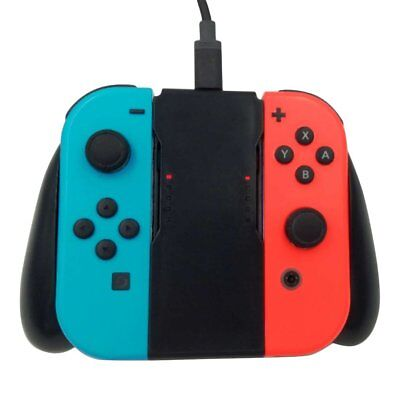 Comfort Grip Handle Charging Station For Nintendo Switch Joy-Con Charger QV