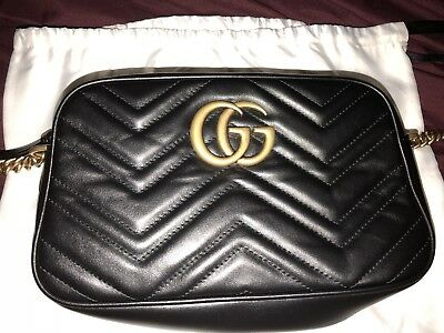 45d1cceb3b30 BRAND NEW AUTHENTIC Gucci GG Marmont small matelassé shoulder bag ...