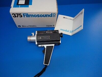 Bell & Howell Filmosound 8 Model 375 Camera Super 8 With Box And Instructions