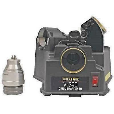 Darex V-390 (NEW) Drill Sharpener  Easy (3) Step Process   118 to 135 degrees