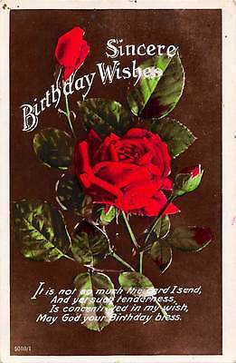 Sincere Birthday Wishes Roses Flowers Bouquet 1932