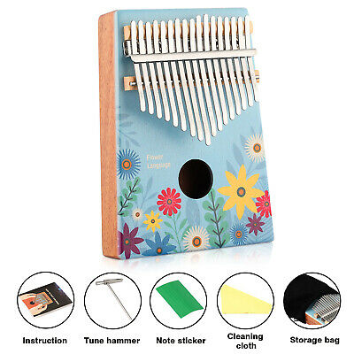New Best DKL-17 17 Key Kalimba Thumb Piano Solid Mahogany wood Body