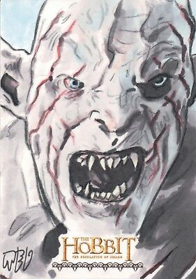 The Hobbit The Desolation Of Smaug, Ted Dastick Jr Sketch Card 1/1