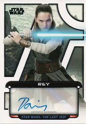 Star Wars Galactic Files 2018, Daisy Ridley 'Rey' Autograph Card #4/5