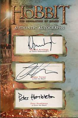 The Hobbit The Desolation Of Smaug, OM16 Triple Autograph Redemption Card
