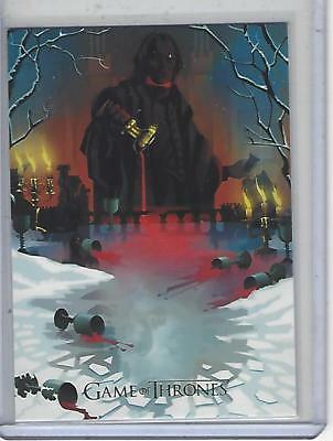 Game of Thrones Season 7 Beautiful Death Gold Card BD61 #135/150