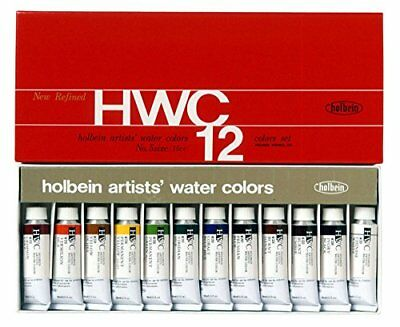 Holbein Artists Transparent Watercolor 12 Colors Set W401 5ml tube Japan F/S M