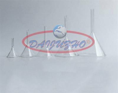 Short Stem Thick Clear Glass Multiple Siz 30/40/50/60/75/90mm Laboratory Funnel