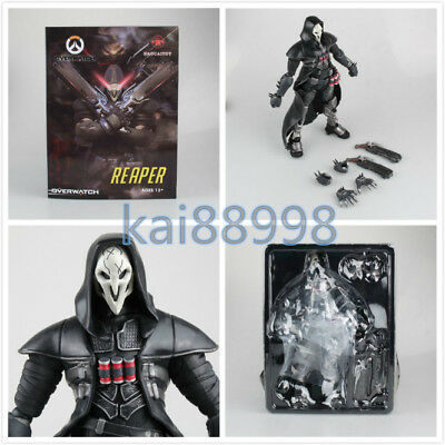"""Overwatch OW Reaper BLACK PVC Action Figure Toy Collectible New 26cm/10"""""""