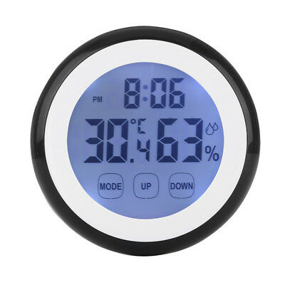 Digital Temperature Humidity Time Function Wall Clocks LCD Backlight Bedroom