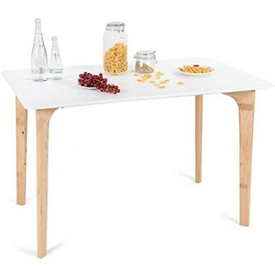 Modern Dining Table Mid-Century Home Room Kitchen W/Rectangular Top Wood Legs X