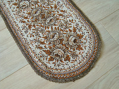 Vintage German embroidered decorative Table runner with floral motifs