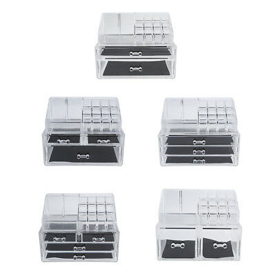 Clear Acrylic Jewelry Makeup Cosmetic Organizer Storage with Drawer Compartment