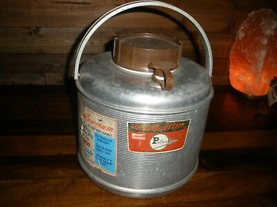 VTG Poloron Featherflite 1Gallon All Aluminum Jug Insulated U.S.A Hot Or COLD