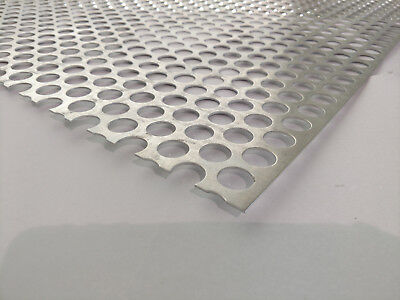 """Perforated Metal Aluminum Sheet .062 1/16"""" Gauge 12"""" x 36""""  3/4"""" hole 1"""" Stagger"""