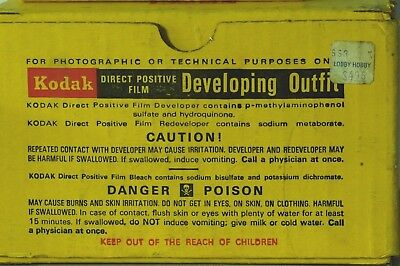 Kodak Direct Positive Film Developing Outfit
