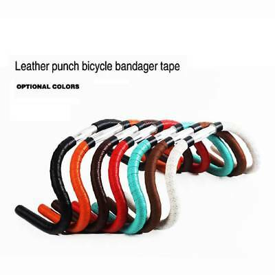 2x Bicycle Road Bike PU Leather Handlebar Wrap Soft Touch Tape Bar With Plug NEW