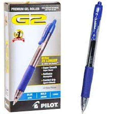 Pilot G2 Retractable Premium Gel Ink Roller Ball Pens Blue Ink Fine Point 0.7 mm
