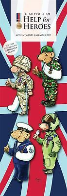 Help for Heroes Official 2019 Slim Wall Calendar New & Sealed