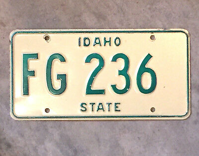 1960s-1970s IDAHO GOVERNMENT license plate - SHARP old antique vintage auto tag