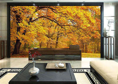 Yellow Maple Forest 3D Full Wall Mural Photo Wallpaper Printing Home Kids Decor