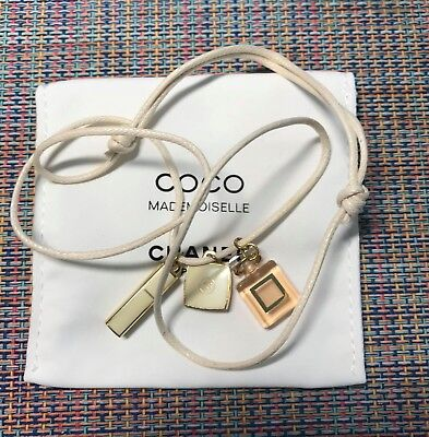 CHANEL VIP GIFT necklace pendant with charm coco mademoiselle NEW VERY OLD RARE
