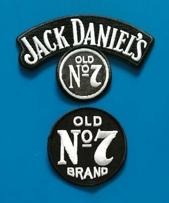 2 JACK DANIELS OLD NO. 7  Embrodered Iron Or Sewn Patches W/ Free Shi