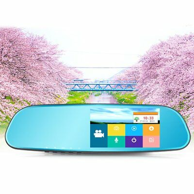5.0 Inch 140 Degree Wide Angle Lens 1080P Car DVR Car Rear View Mirror Monitor