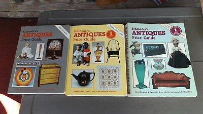 3 Schroeders Antique Price Guide Books 1989-90-91