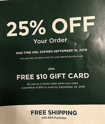 ❤LL BEAN 25% Off In-Store Purchase Coupon Only No Promo 9/
