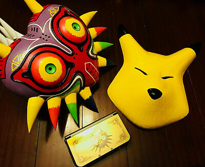 "3D printed Wearable Majora's Mask - Real Size 18"" Wide - Legend of Zelda"
