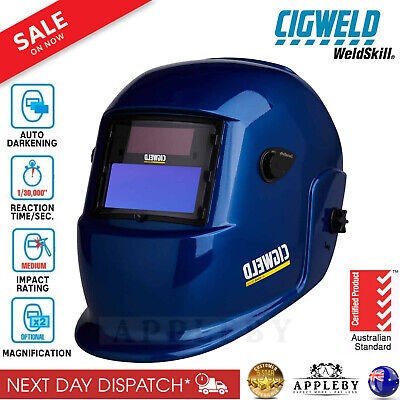 Cigweld Welding Helmet Auto Darkening Variable Shade Pro Welder Grinding Mask